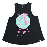 (CLAP)  STAR CLAP a-LINE TANK ブラック