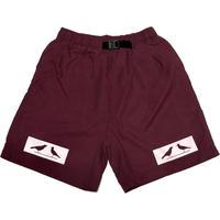 2 BIRDS BOX LOGO Microfiber Baggy Shorts マルーン Sサイズ