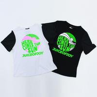 (JUICE OF JOY) ジュースオブジョイ メッシュスリーブ Tシャツ BLACK WHITE Mサイズ