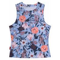 FLOWER PATTERN GIRLS SPORT TOP ブルー(BL)