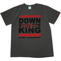 DOWN WITH THE KING GERMENT DYED Tee ブラック