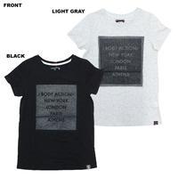 (BODY  ACTION)ラメプリント Tシャツ BLACK LIGHT GRAY Mサイズ