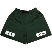 2 BIRDS BOX LOGO Microfiber Baggy Shorts ダークグリーン Sサイズ