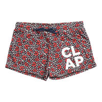 (CLAP)  FLOWER CHECK  SHORTS ネイビー