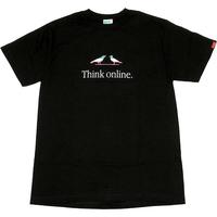 Think online Tee ブラック Mサイズ