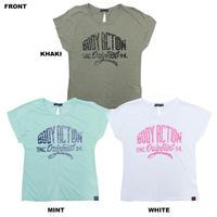 (BODY  ACTION)バックリボン Tシャツ KHAKI MINT WHITE Sサイズ