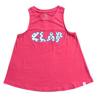 (CLAP) DOT-CLAP a-LINE TANK ピンク