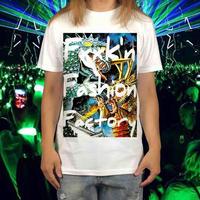 FxFxF / ビッグ プリント レトロ グラフティ アート 怪獣 モンスター  Tシャツ