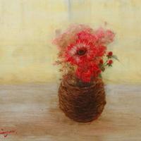 菅野瑠衣「pink bouquet(Ⅲ)」F6号  SUGANO RUI