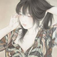 涼風会展 やちだけい「薄 暑」33.0×25.0cm Yachida  Kei