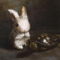 菅野瑠衣「ウサギとカメ」F4号  SUGANO RUI