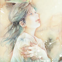 谷口朋栄「風を待つ羽」F4号 TANIGUCHI Tomoe