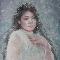 徳田明子「銀 雪」F6号  Tokuda  Akiko