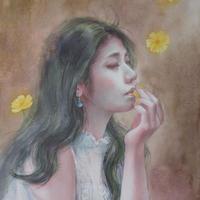 徳田明子「忘れえぬ人」F4号 Tokuda  Akiko