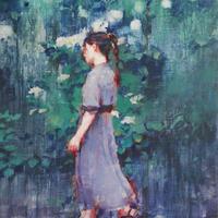 涼風会展 岩本和保「よひらを想う」 サムホール Iwamoto  Kazuho