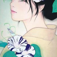 涼風会展 石川幸奈「翠 雨」M4号  Ishikawa  Yukina
