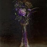 菅野瑠衣「紫の静物」M4号  SUGANO RUI
