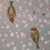 吉敷麻里亜「アーモンドに雀」S3号 Kishiki  Maria