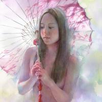 松林 淳「絵日傘の心」F6  Matsubayashi  Atsushi