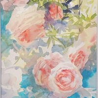 小野月世「花の香」37.0×17.5㎝   Ono Tsukiyo