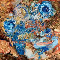 小玉智輝「青い花」F6号  Kodama    Tomoki