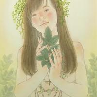松平一民 「玉 串」(たまぐし)    P6号       Matsudaira Kazutami