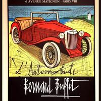 [ポスター額付き]ベルナール ビュッフェ 「車L'AUTOMOBILE」