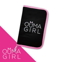 マルチ馬券ケース「OUMAGIRL」ブラック&ピンク
