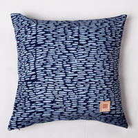 Natural Indigo batik dyed cotton cushion cover 天然インディゴバティック コットンクッションカバー PCI-006
