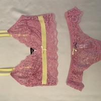 Lace lingerie SET size S  PINK/YELLOW
