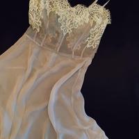 Silk slip dress Light Blue size S