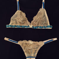 Triangle bra  Verde size90/ Thong one size SET