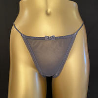 See-thought thong  GREY