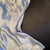 Silk/lace Slip dress size S Light Blue