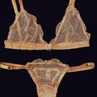 Triangle bra  Rosa size85/ Thong one size SET