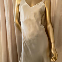 La Sakura silk ivory slip dress size M