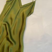 Silk Slip dress Green/Navy size S