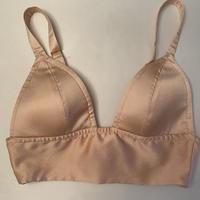 Gigi Silk bra in powder pink size S