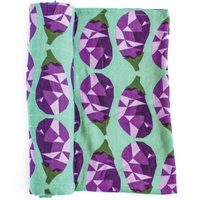 "OLIVER+KIT - Cotton Single Blanket - ""Eggplant"""