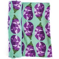 """OLIVER+KIT - Cotton Single Blanket - """"Eggplant"""""""