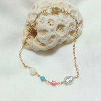 Pearl&stone bracelet