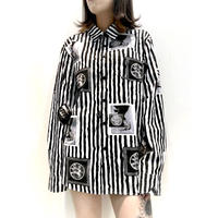 【STUSSY】PHOTO  STRIPE SHIRT