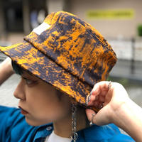 【R-18】PATTERN BUCKET HAT / Orange Black