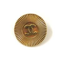【Vintage CHANEL】Button MEDIUM radially gold