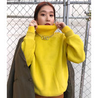 RIB HIGH-NECK SWEAT