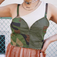 REMAKE PATCHWORK MILITARY BUSTIER