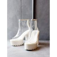 PVC OPENTOE BOOTS/WHITE