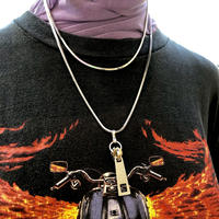 ZIPPER  2STATIONS  NECKLACE