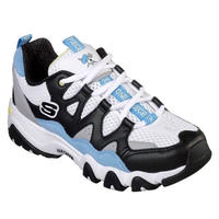 【SKECHERS x ONE PIECE】WHITE/BLACK/BLUE (TIDAL WAVES)