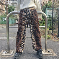 LEOPARD  FLEECE  PANTS